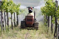 Chemisch product in wijnbouw Stock Foto's