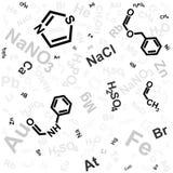 Chemische achtergrond Stock Foto