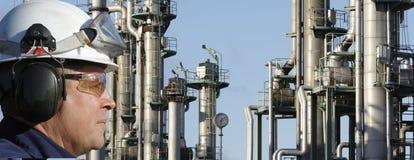Chemische arbeider en de industrie Royalty-vrije Stock Foto