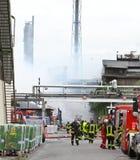 Chemische Brand Stock Foto's