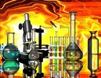 Chemische Einheiten lizenzfreie abbildung