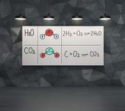 Chemische Elemente H2SO4, HNO3 Stockbilder