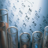 Chemische elementen Stock Afbeeldingen