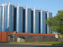 Chemische fabriek Stock Afbeeldingen