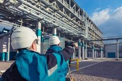 Chemische Fabrik, synthetischen Gummi produzierend Stockbilder
