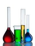 Chemische flessen Stock Foto