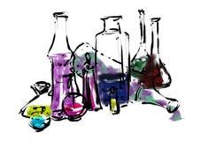 Chemische flessen Royalty-vrije Stock Afbeeldingen