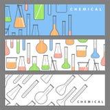 Chemische flessenillustratie stock foto