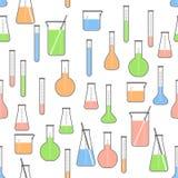 Chemische flessenillustratie royalty-vrije stock foto
