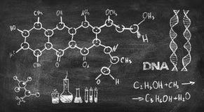 Chemische Formel stockfotos