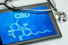 Chemische Formel von CBD lizenzfreie stockfotos