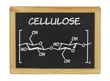 Chemische formule van cellulose royalty-vrije stock afbeelding