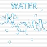 Chemische formule van water Stock Foto