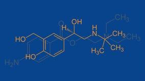 Chemische formule verscheidene opties stock illustratie