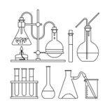 Chemische Glaswarenikone lizenzfreie abbildung