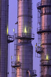 Chemische Kontrolltürme Lizenzfreies Stockfoto