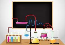 Chemische laboratoriumachtergrond Stock Afbeelding