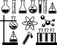 Chemische laboratoriumapparatuur Royalty-vrije Stock Foto