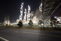 Chemische olieplant royalty-vrije stock foto