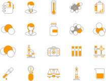 Chemische pictogrammen Royalty-vrije Stock Afbeeldingen