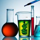 Chemische producten in glas Stock Afbeeldingen