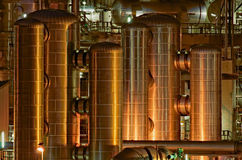 Chemische productiefaciliteit a Royalty-vrije Stock Afbeelding