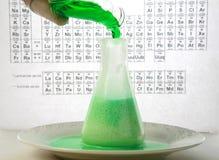 Chemische reactie Stock Foto's