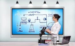 Chemische Reaktion des Entwurfs lizenzfreie stockfotografie