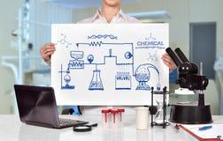 Chemische Reaktion des Entwurfs lizenzfreies stockbild