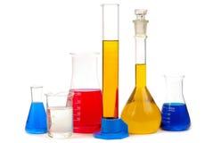 Chemische retorten Stock Foto