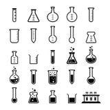 Chemische Rohr-Ikone Stockfotos