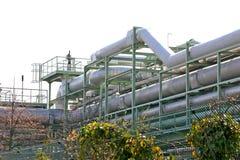Chemische Rohrleitungen stockfoto