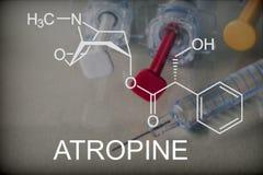 Chemische samenstelling van atropine royalty-vrije stock foto's