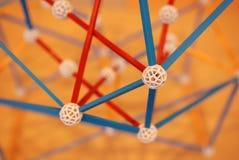 Chemische structuren plakkend royalty-vrije stock afbeelding