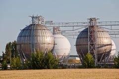 Chemische tanks Stock Foto