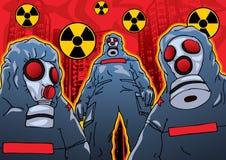 Chemische terroristenaanval stock illustratie