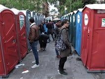 Chemische toiletten in Rome, Itali? royalty-vrije stock foto's