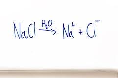 Chemische vergelijking op whiteboard Stock Fotografie
