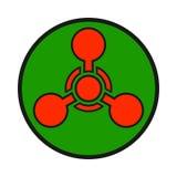Chemische wapenwaarschuwing, gevaarteken Stock Foto's