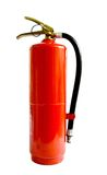 Chemischer Feuerlöscher lokalisiert auf weißem Hintergrund Stockfoto