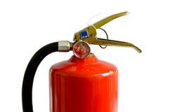 Chemischer Feuerlöscher lokalisiert auf weißem Hintergrund Lizenzfreies Stockbild
