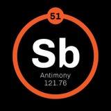 Chemisches Element des Antimons Stockfotografie