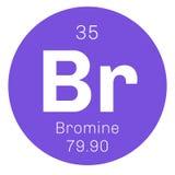 Chemisches Element des Broms Stockbild