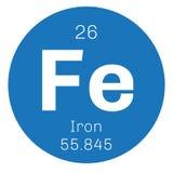 Chemisches Element des Eisens Stockbilder