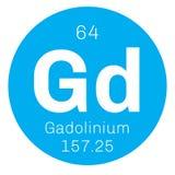 Chemisches Element des Gadolinium Stockbilder