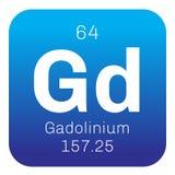 Chemisches Element des Gadolinium Stockfotos