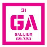 Chemisches Element des Galliums Stockfoto