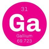 Chemisches Element des Galliums Stockfotografie
