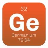 Chemisches Element des Germaniums Stockfotos