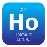 Chemisches Element des Holmium Stockbilder